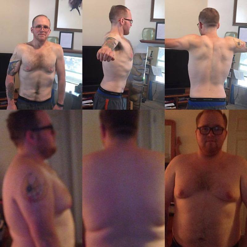 5 feet 6 Male 152 lbs Fat Loss Before and After 310 lbs to 158 lbs