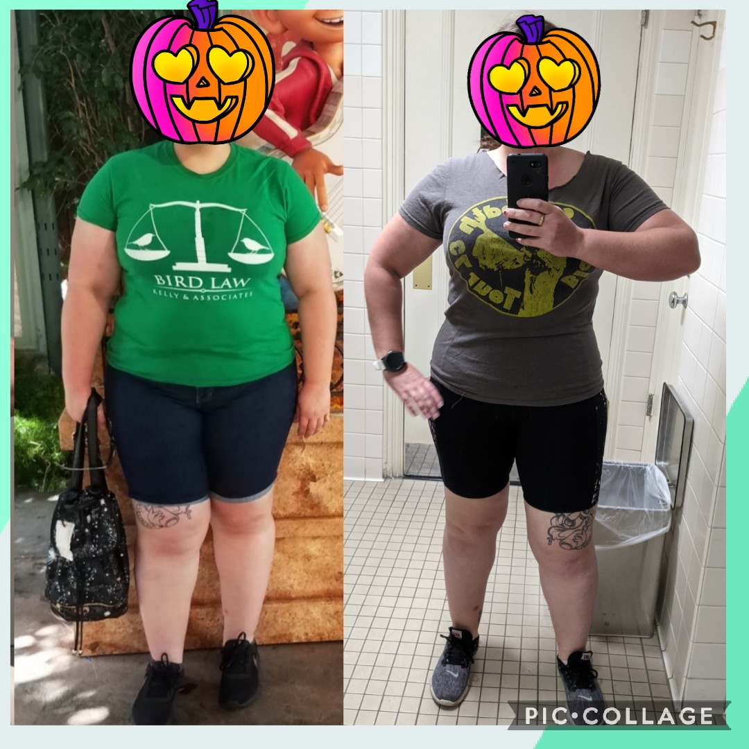 5'4 Female 80 lbs Weight Loss 275 lbs to 195 lbs