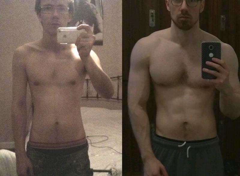 5 feet 11 Male Progress Pics of 38 lbs Muscle Gain 140 lbs to 178 lbs