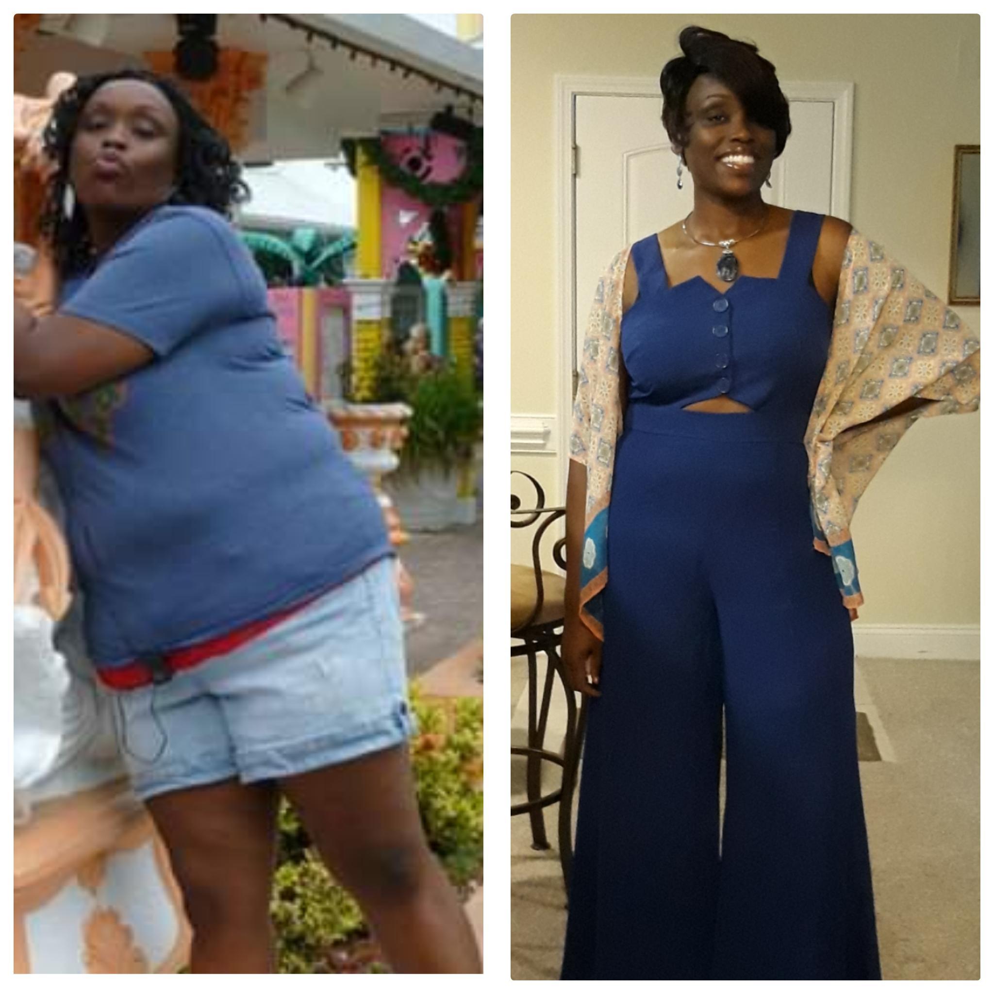 5 feet 9 Female Progress Pics of 97 lbs Weight Loss 282 lbs to 185 lbs