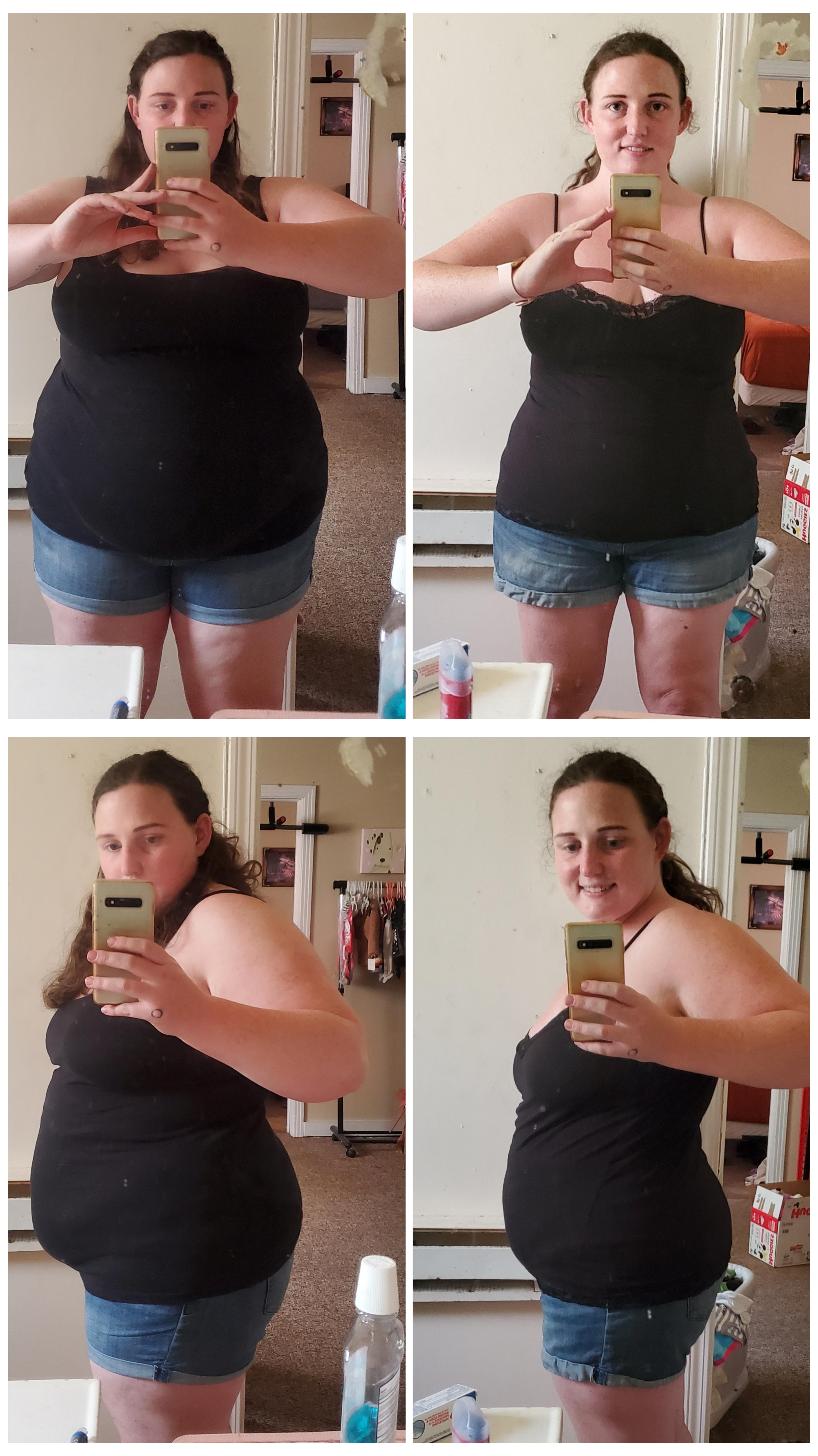 5'4 Female Progress Pics of 55 lbs Fat Loss 265 lbs to 210 lbs