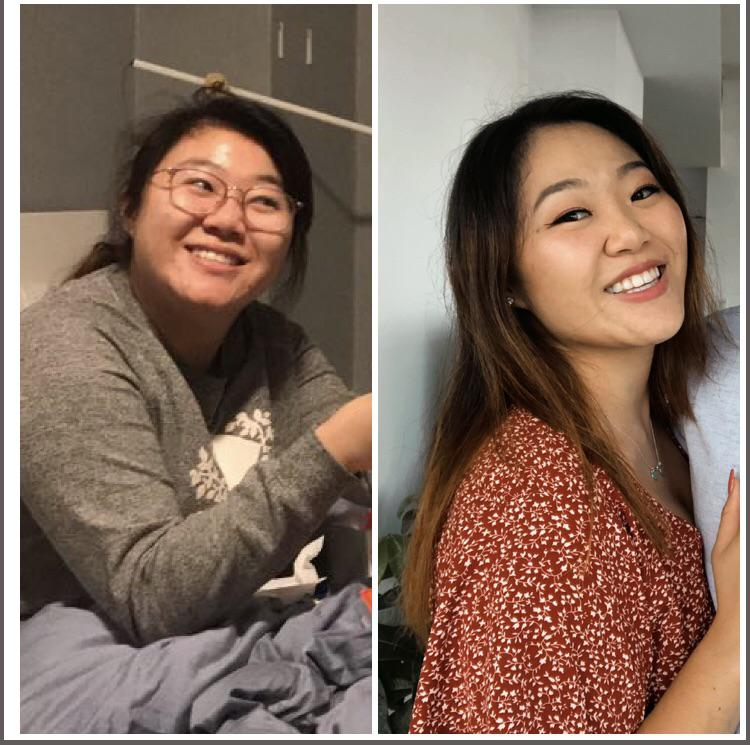 5 feet 4 Female Before and After 35 lbs Fat Loss 180 lbs to 145 lbs