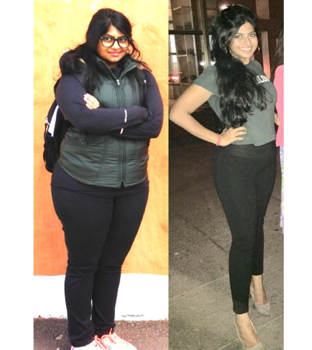 5 foot 6 Female Before and After 90 lbs Weight Loss 242 lbs to 152 lbs