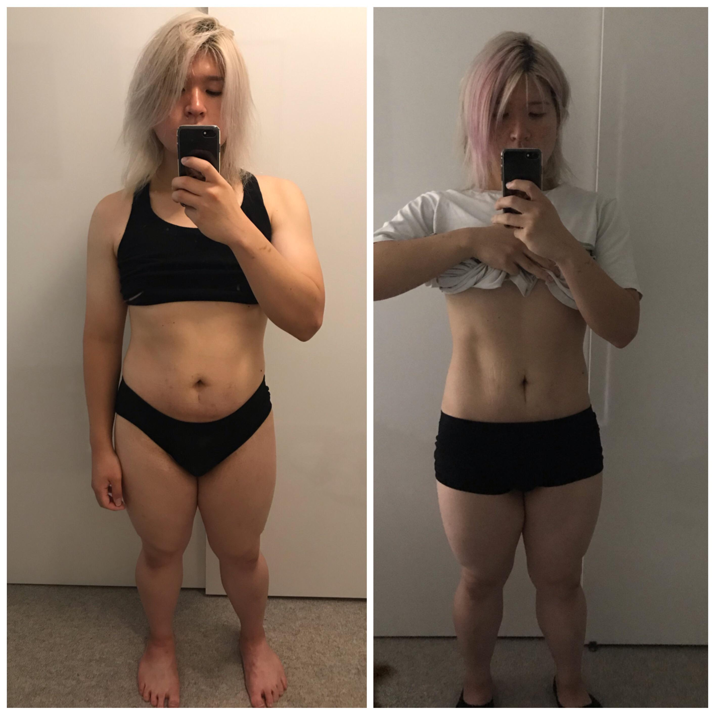5 feet 3 Female 15 lbs Fat Loss Before and After 177 lbs to 162 lbs