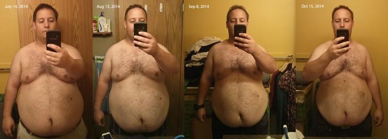 30 lbs Fat Loss 5'7 Male 310 lbs to 280 lbs