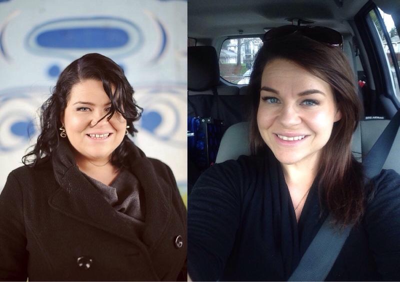 5 feet 1 Female Progress Pics of 68 lbs Fat Loss 218 lbs to 150 lbs