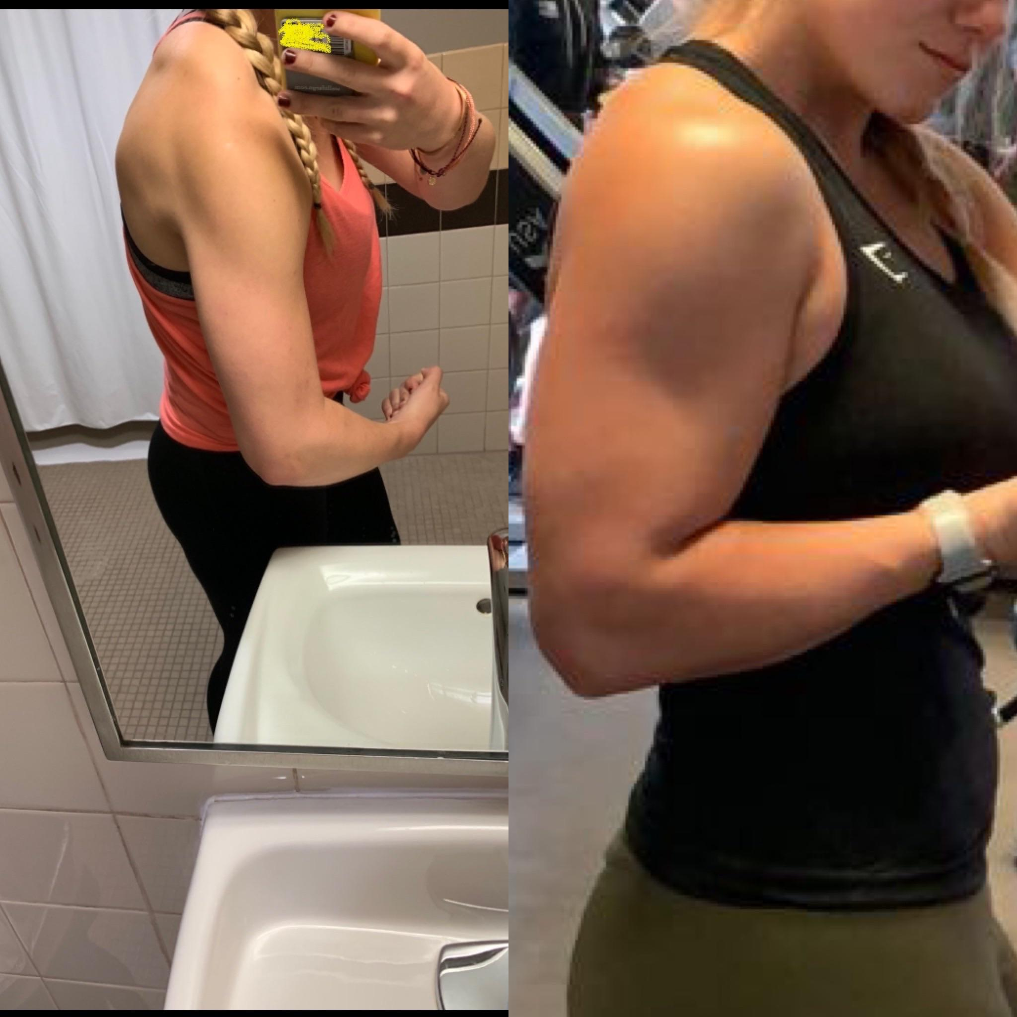 5 foot 7 Female 17 lbs Weight Gain Before and After 158 lbs to 175 lbs