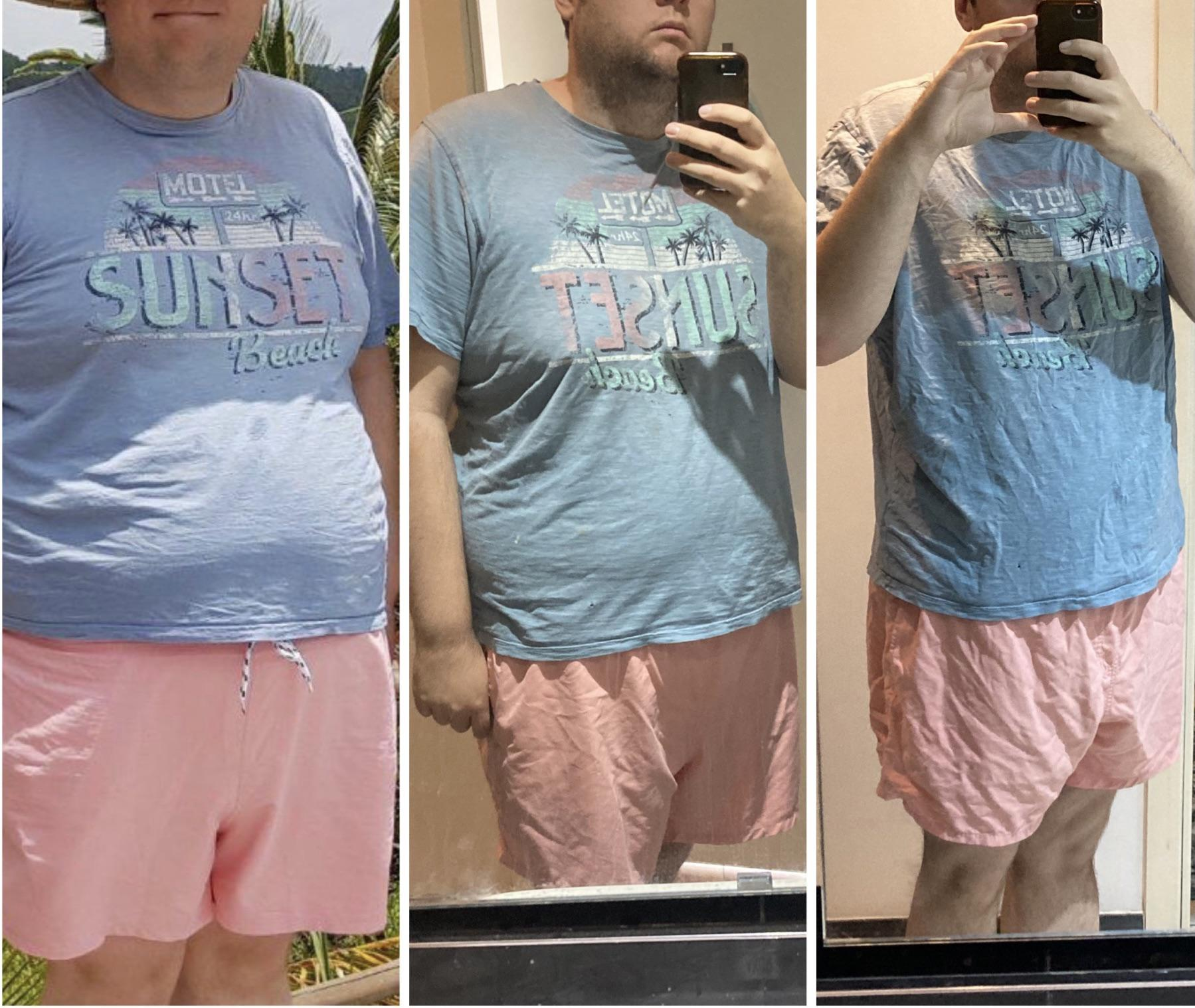 39 lbs Weight Loss 6 foot 1 Male 317 lbs to 278 lbs