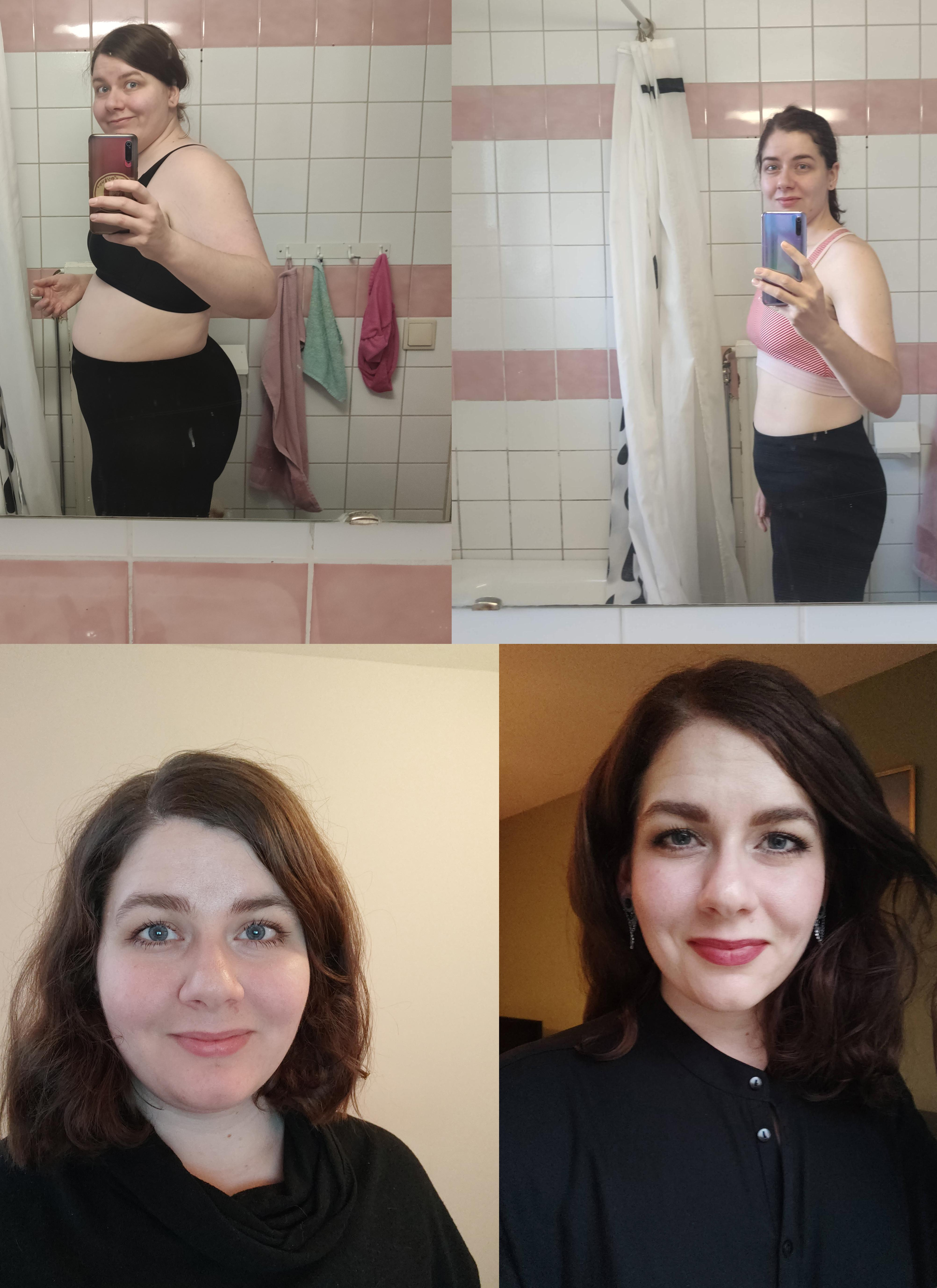 5'7 Female 68 lbs Weight Loss 242 lbs to 174 lbs