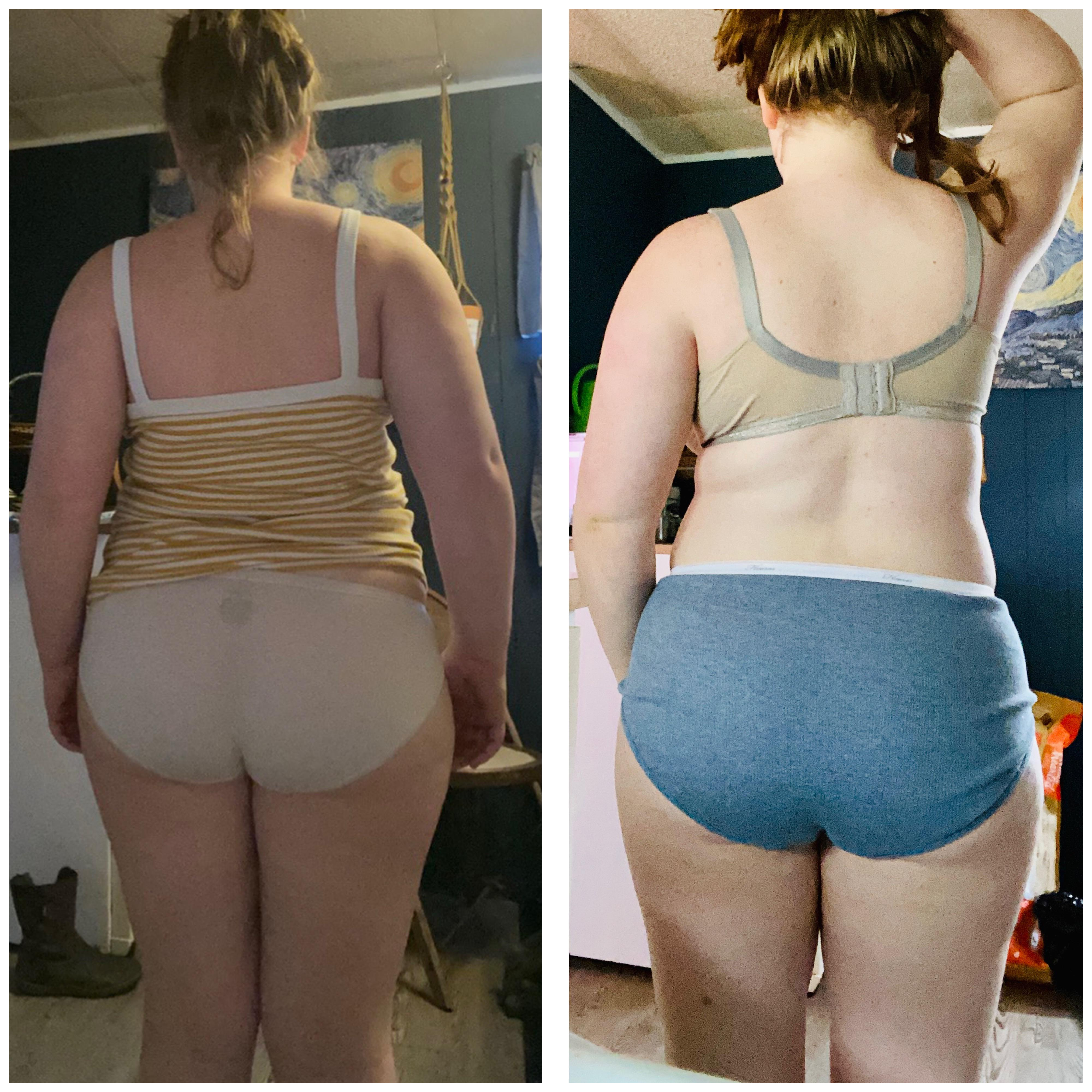 Before and After 12 lbs Weight Loss 5 foot 2 Female 190 lbs to 178 lbs