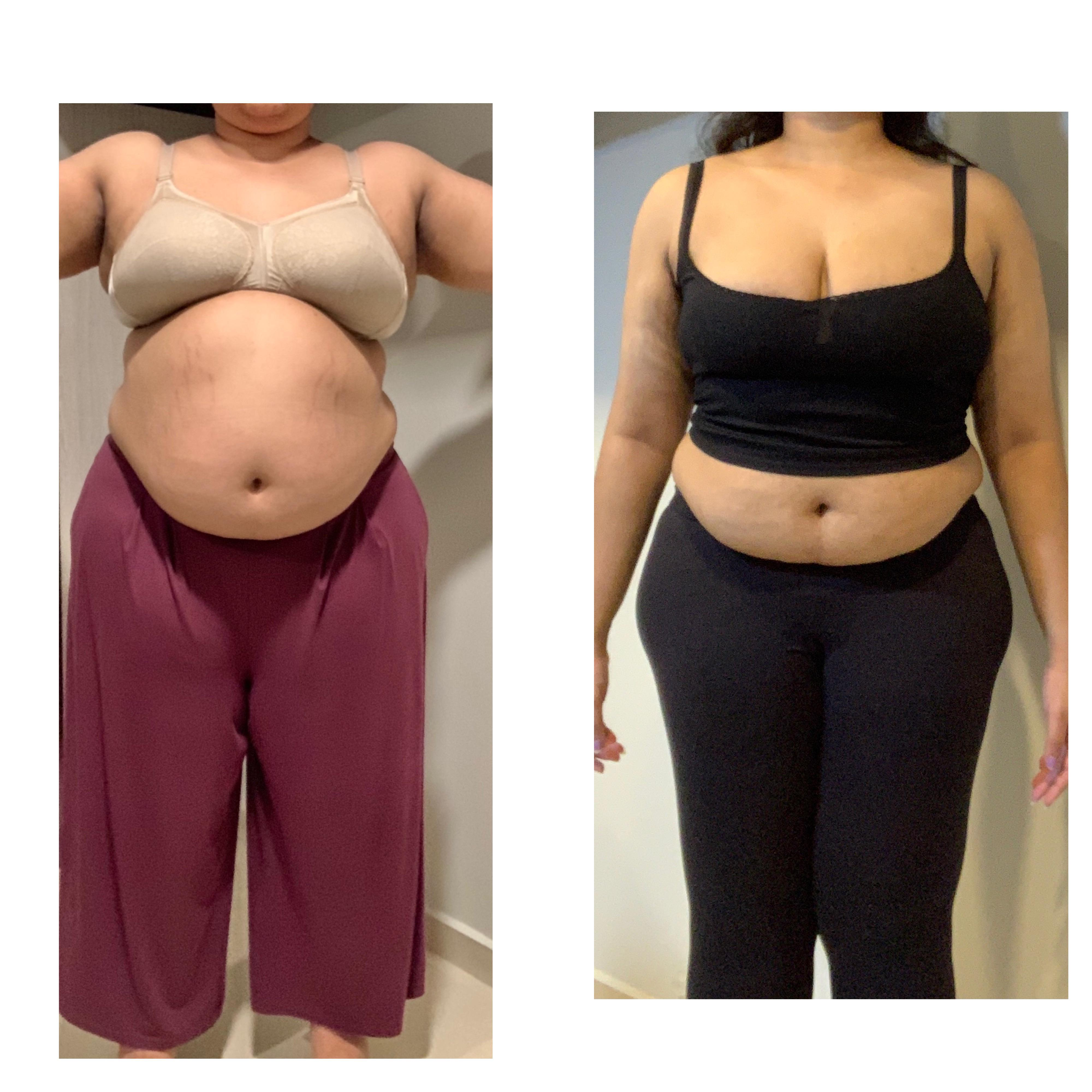 60 lbs Weight Loss Before and After 5 feet 7 Female 303 lbs to 243 lbs