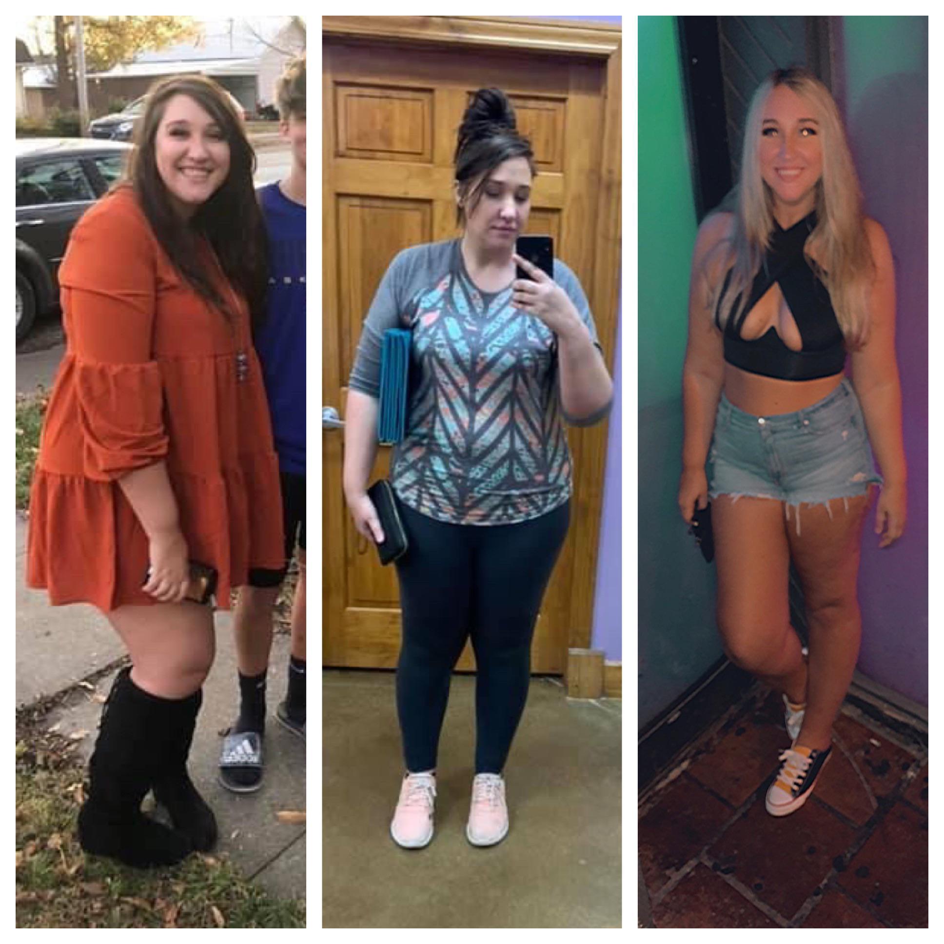 Progress Pics of 25 lbs Weight Loss 5 feet 11 Female 265 lbs to 240 lbs