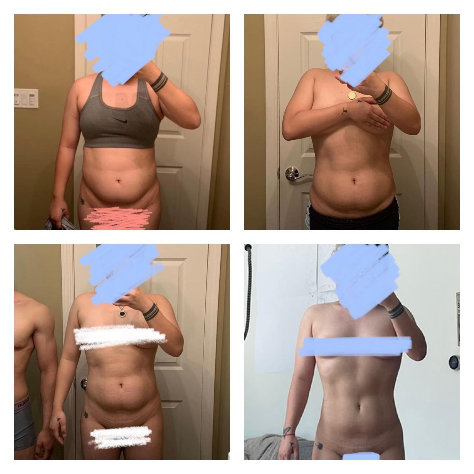 20 lbs Weight Loss 4 feet 11 Female 140 lbs to 120 lbs