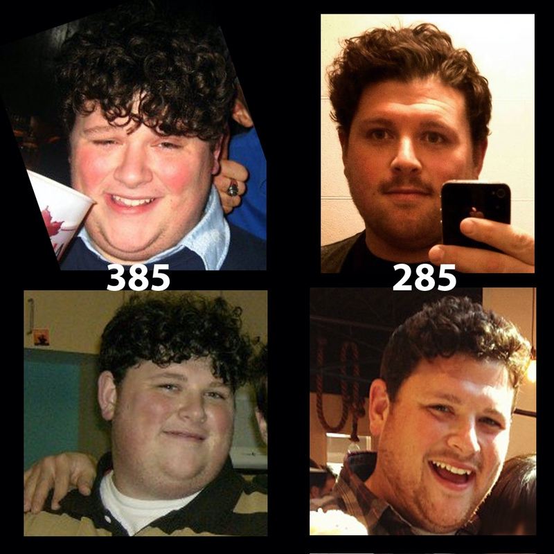 6 foot Male 100 lbs Weight Loss 385 lbs to 285 lbs