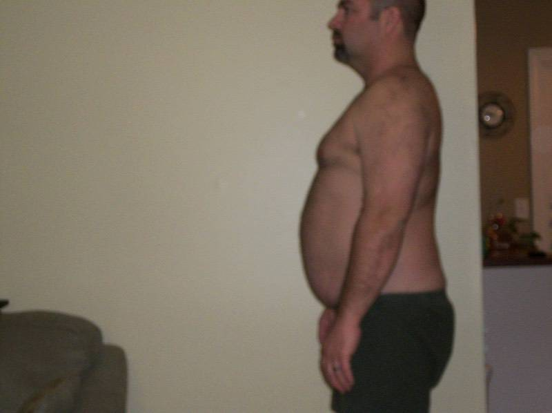 3 Pictures of a 220 lbs 6 foot Male Weight Snapshot