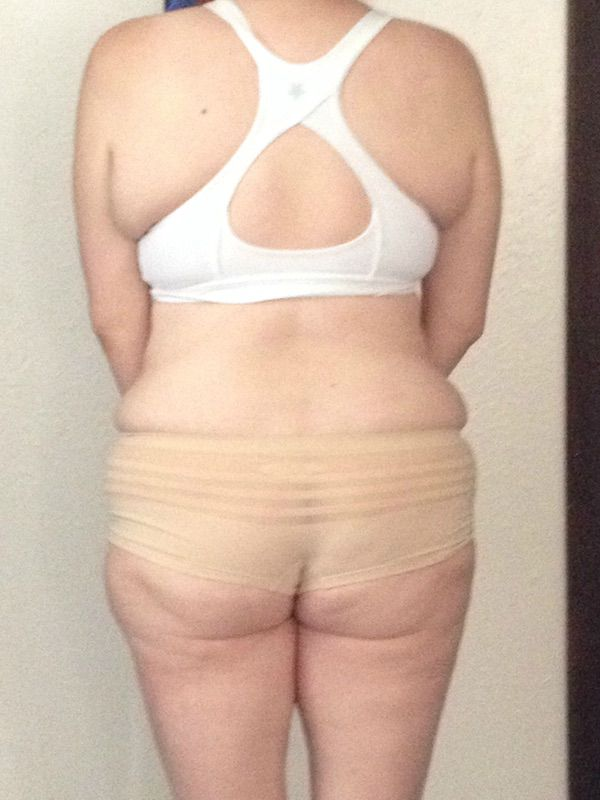 4 Pictures of a 5'5 163 lbs Female Weight Snapshot