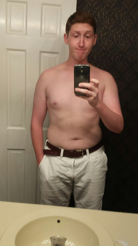 6 foot Male 30 lbs Fat Loss Before and After 190 lbs to 160 lbs