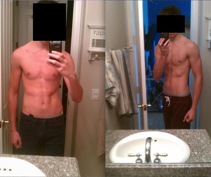 6 feet 4 Male Before and After 20 lbs Weight Gain 140 lbs to 160 lbs
