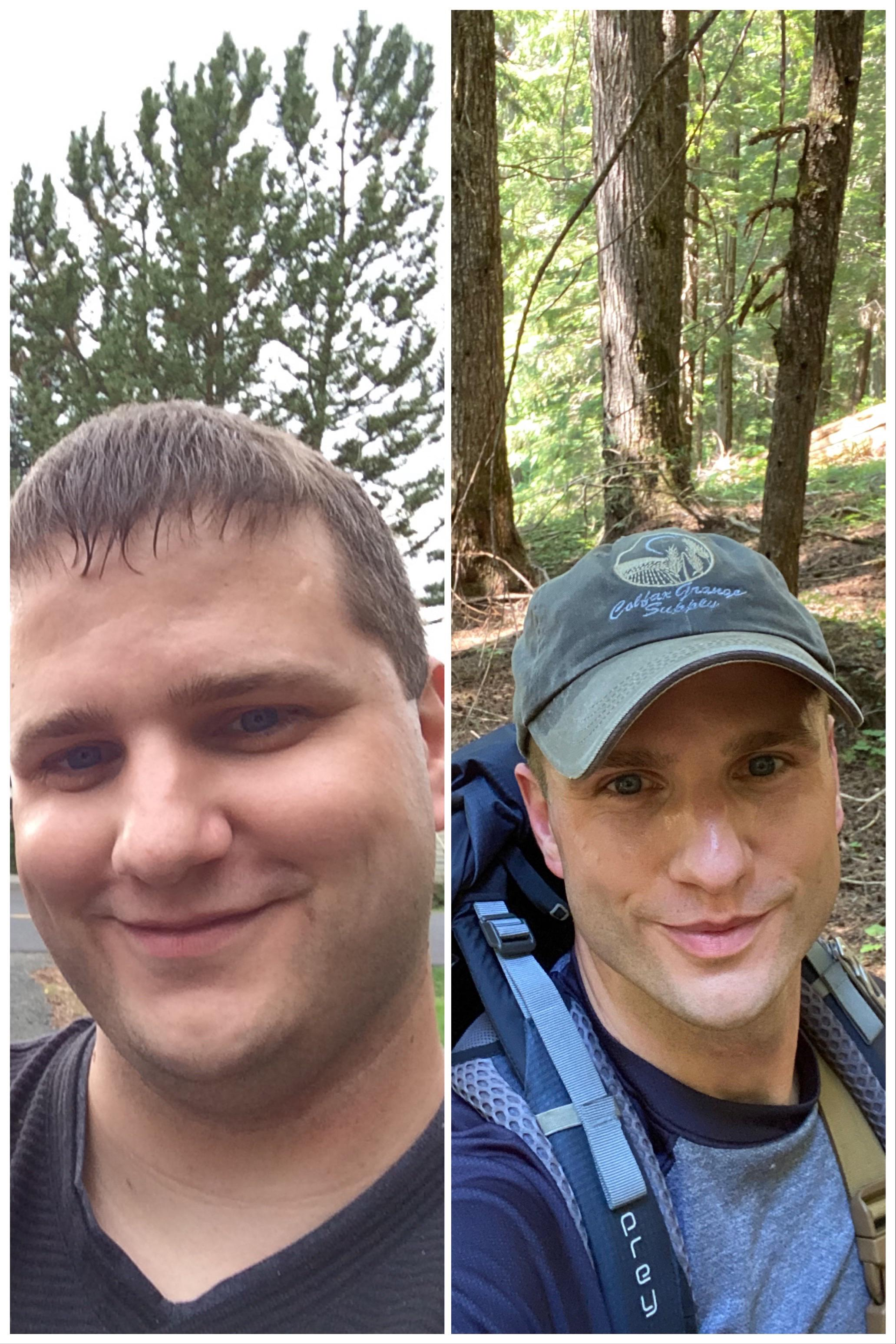6 foot 2 Male Before and After 111 lbs Weight Loss 296 lbs to 185 lbs