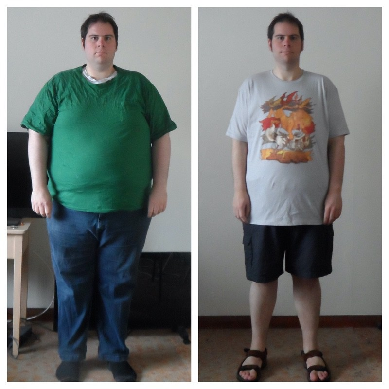 5 feet 10 Male 127 lbs Fat Loss Before and After 394 lbs to 267 lbs