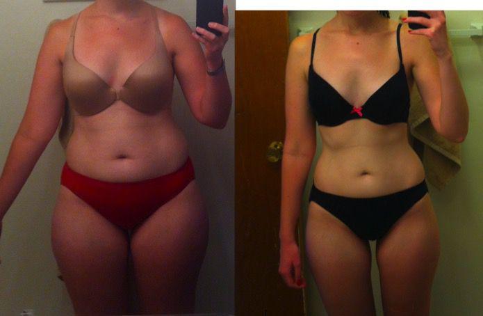5 feet 2 Female Progress Pics of 28 lbs Weight Loss 148 lbs to 120 lbs