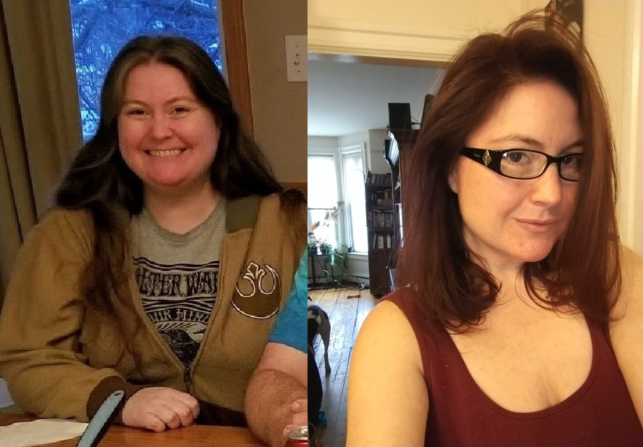 5 foot 4 Female Before and After 68 lbs Weight Loss 225 lbs to 157 lbs