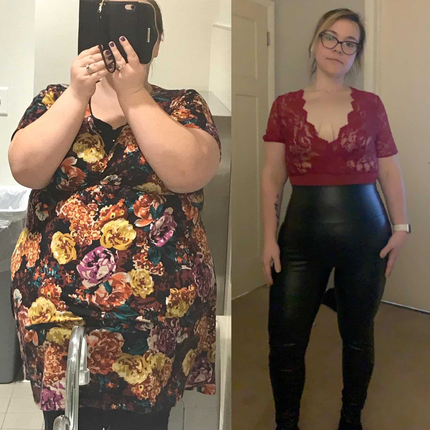 Progress Pics of 133 lbs Fat Loss 5'2 Female 300 lbs to 167 lbs
