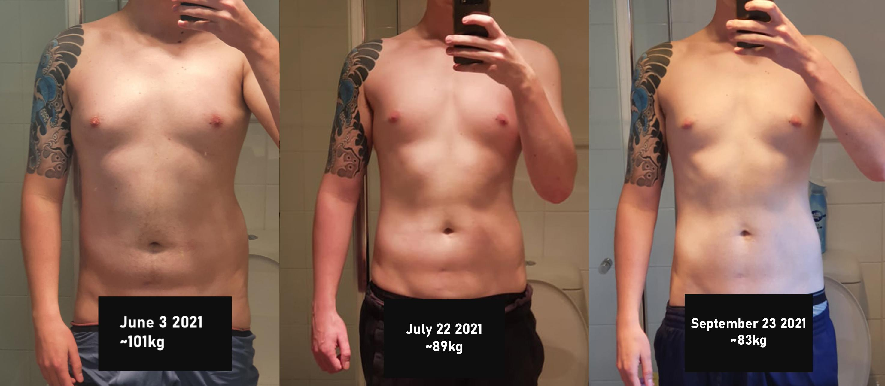 6'4 Male Before and After 40 lbs Weight Loss 222 lbs to 182 lbs