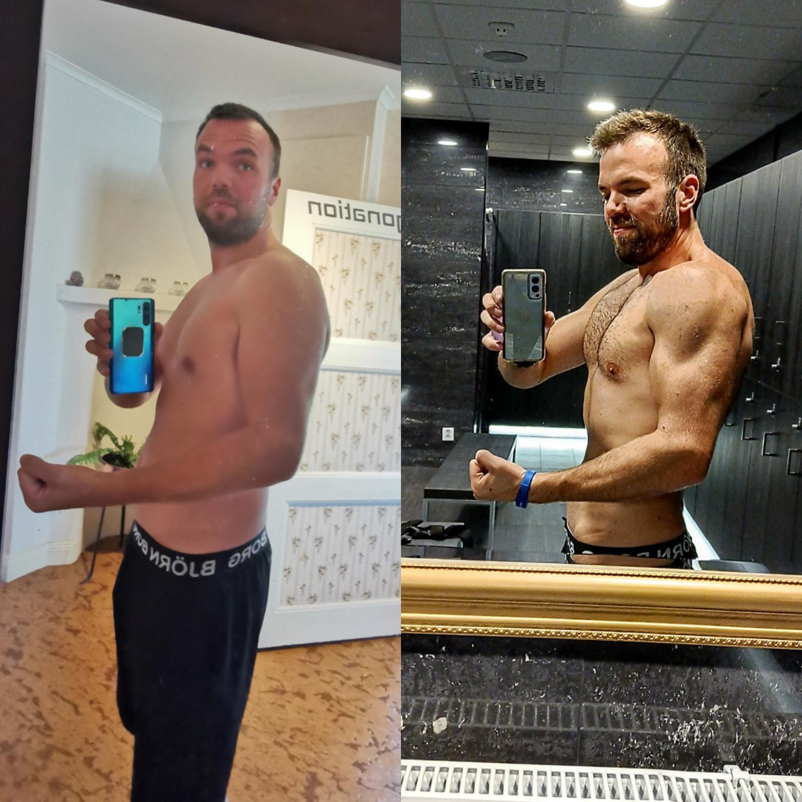 20 lbs Fat Loss 6 foot 4 Male 235 lbs to 215 lbs