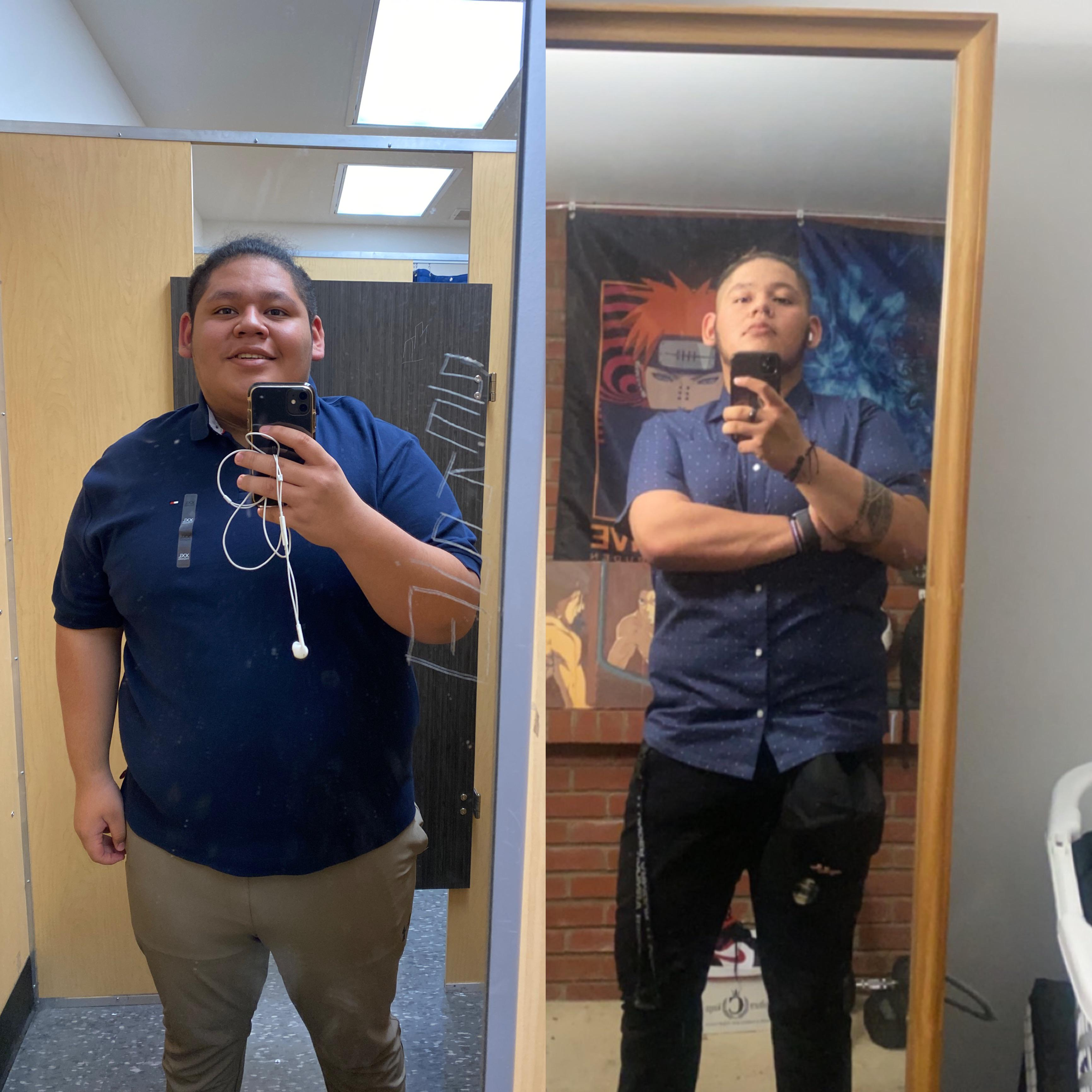 6 feet 2 Male 105 lbs Weight Loss Before and After 375 lbs to 270 lbs