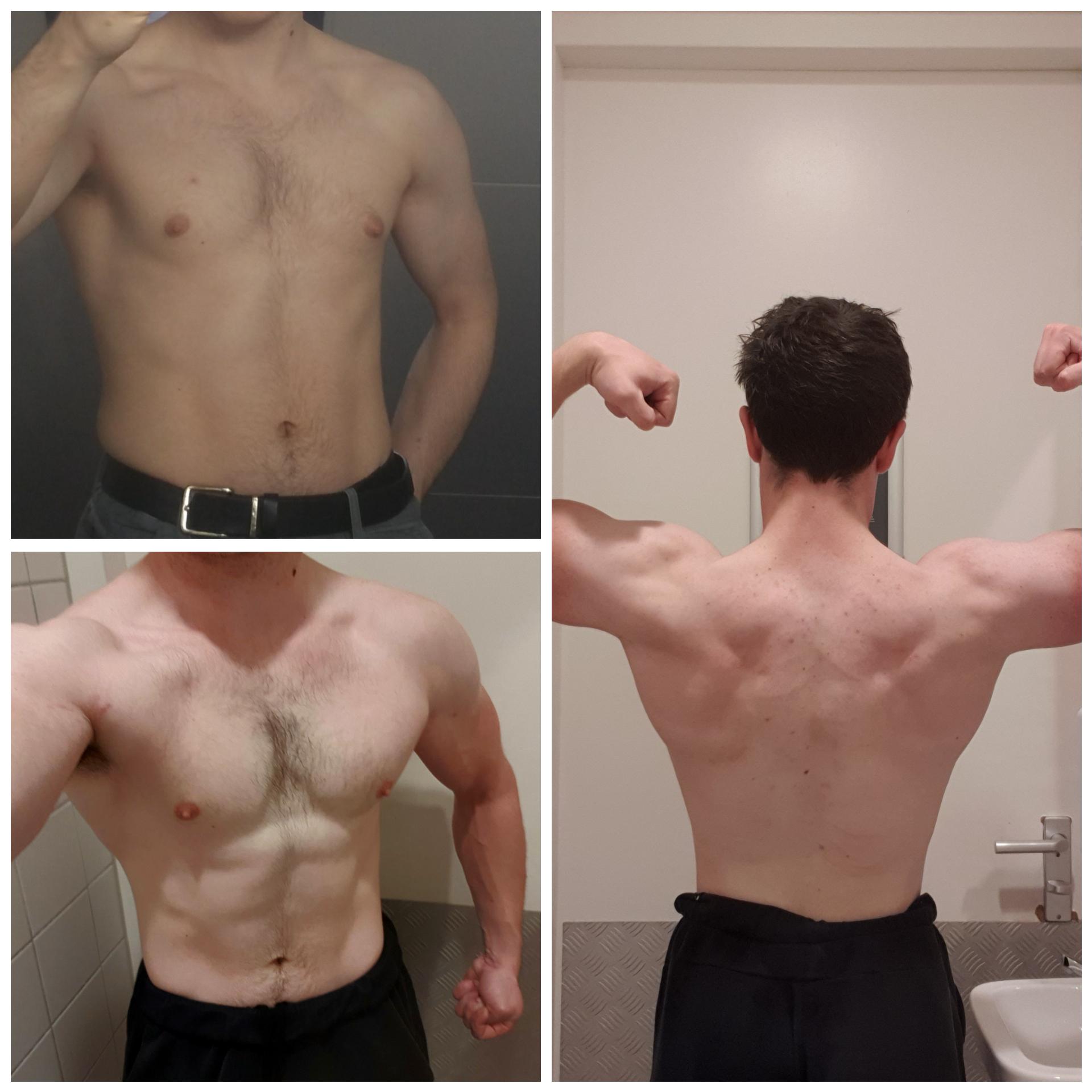 5'11 Male 30 lbs Muscle Gain 146 lbs to 176 lbs
