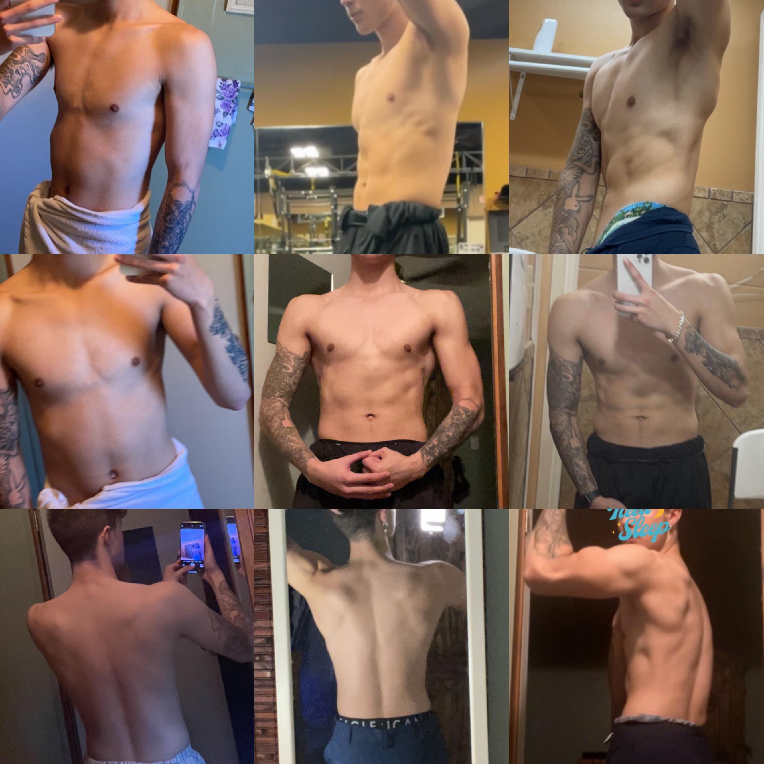 5'9 Male Progress Pics of 15 lbs Weight Gain 115 lbs to 130 lbs