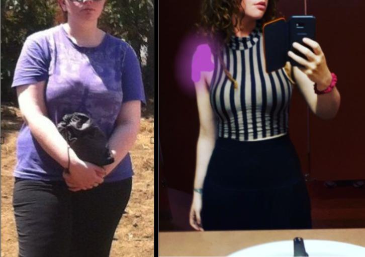 5 foot 5 Female Progress Pics of 67 lbs Fat Loss 210 lbs to 143 lbs