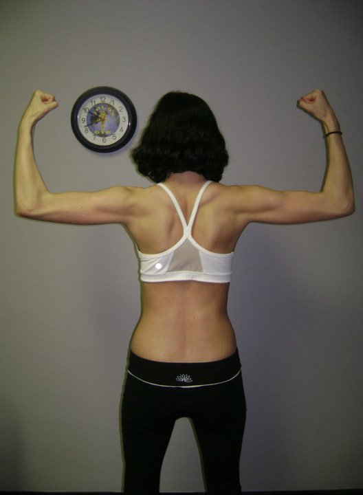 3 Photos of a 110 lbs 5 foot 7 Female Weight Snapshot