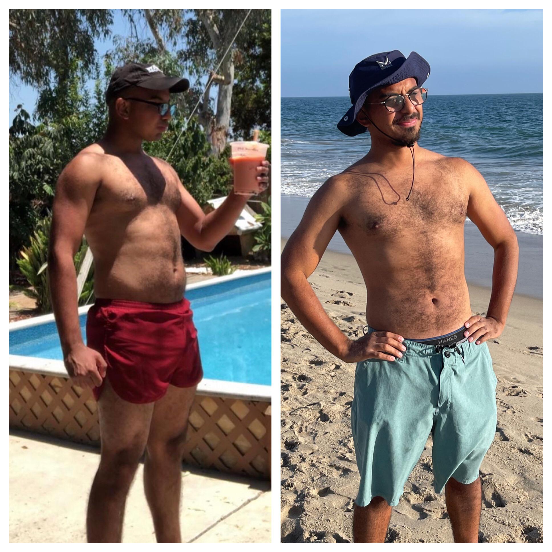 Progress Pics of 23 lbs Weight Loss 5 foot 8 Male 185 lbs to 162 lbs
