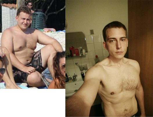 131 lbs Weight Loss 5 foot 9 Male 298 lbs to 167 lbs