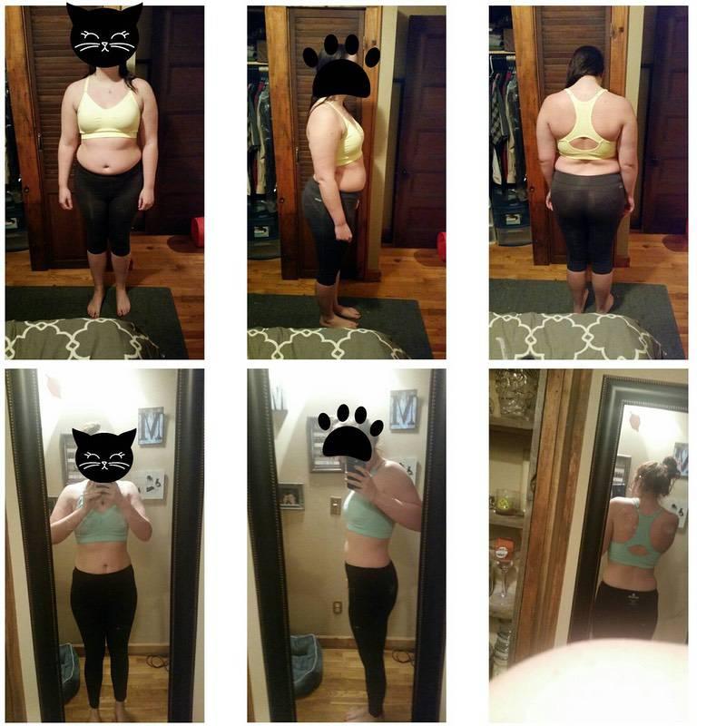 Progress Pics of 44 lbs Fat Loss 5 feet 8 Female 206 lbs to 162 lbs