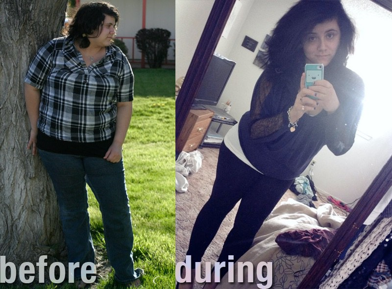 40 lbs Fat Loss Before and After 5 feet 2 Female 240 lbs to 200 lbs