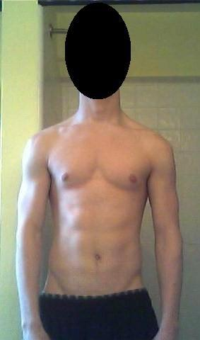 5 foot 9 Male Before and After 20 lbs Weight Gain 128 lbs to 148 lbs