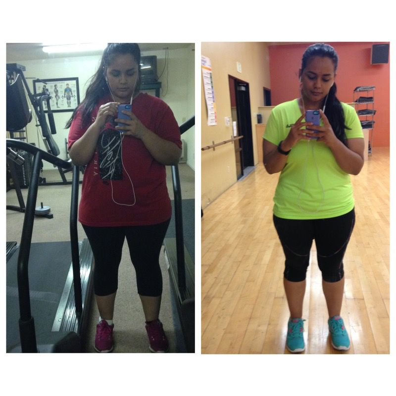 32 lbs Fat Loss Before and After 5'3 Female 226 lbs to 194 lbs
