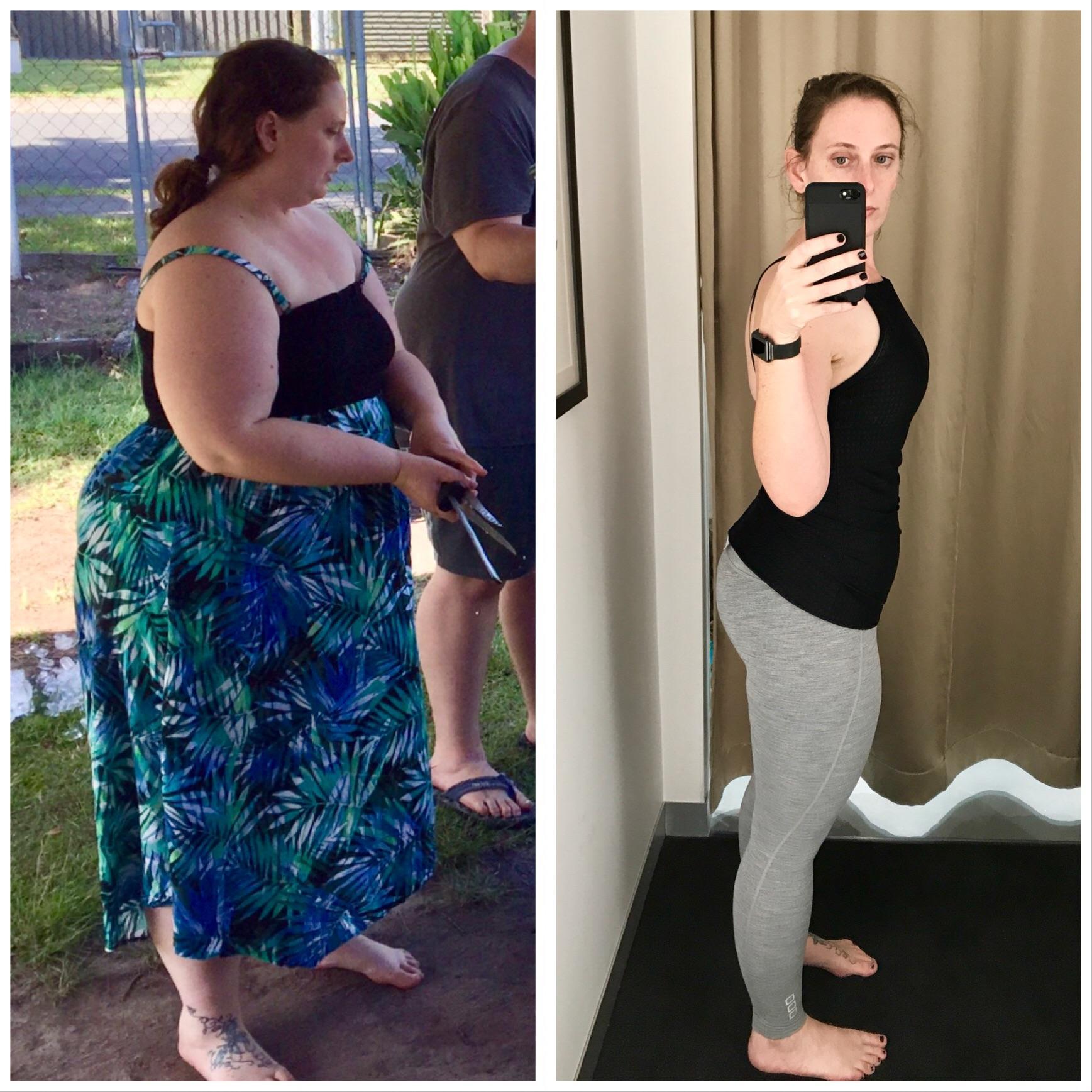Progress Pics of 155 lbs Weight Loss 5 feet 9 Female 320 lbs to 165 lbs