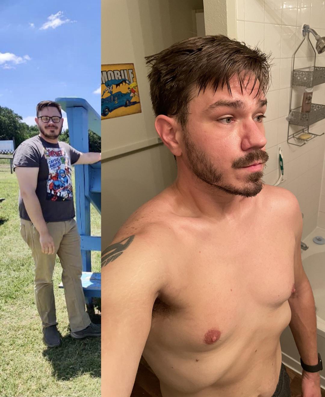 6 feet 2 Male Progress Pics of 48 lbs Fat Loss 240 lbs to 192 lbs