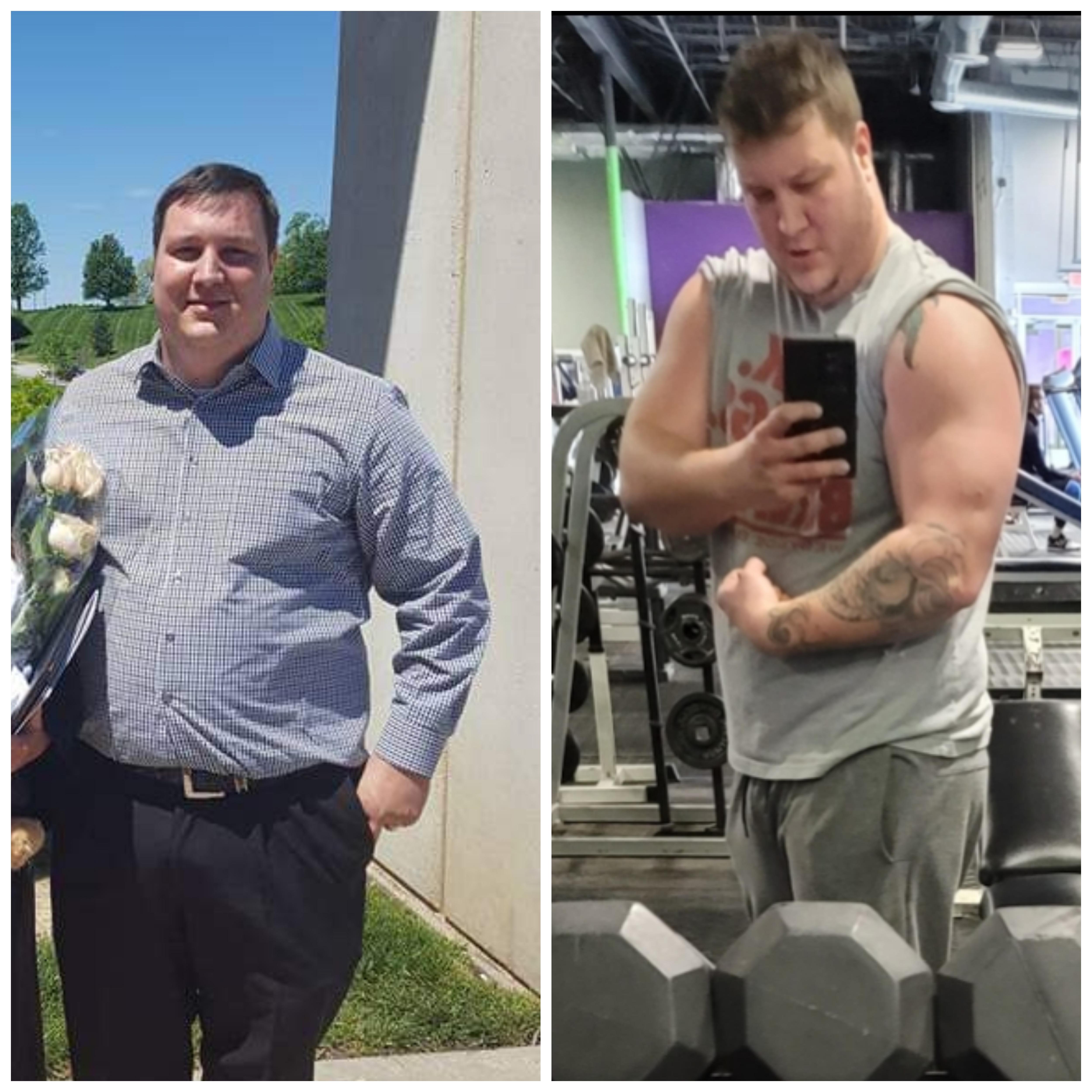 Progress Pics of 41 lbs Weight Loss 5 feet 11 Male 306 lbs to 265 lbs