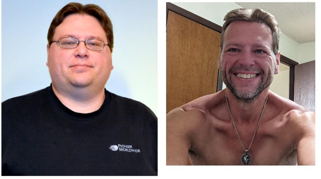 171 lbs Weight Loss Before and After 5 feet 8 Male 345 lbs to 174 lbs