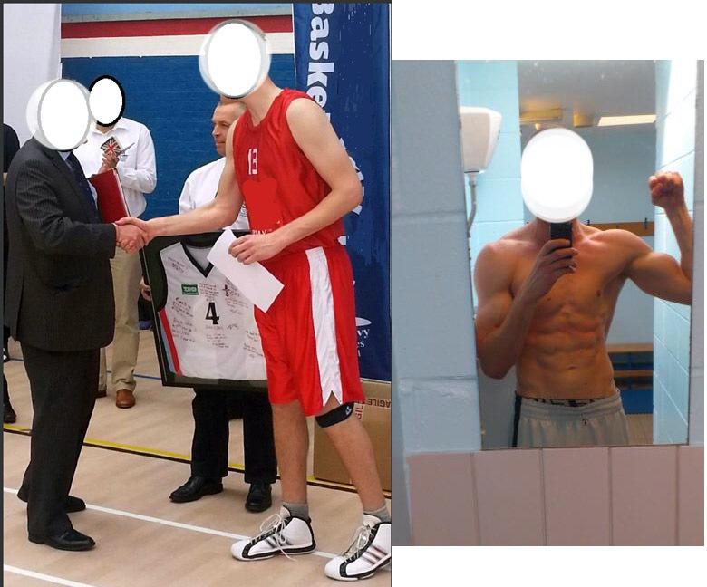 Progress Pics of 11 lbs Weight Gain 6 feet 10 Male 220 lbs to 231 lbs
