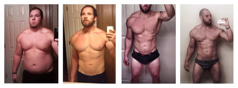 5'7 Male 100 lbs Weight Loss Before and After 275 lbs to 175 lbs