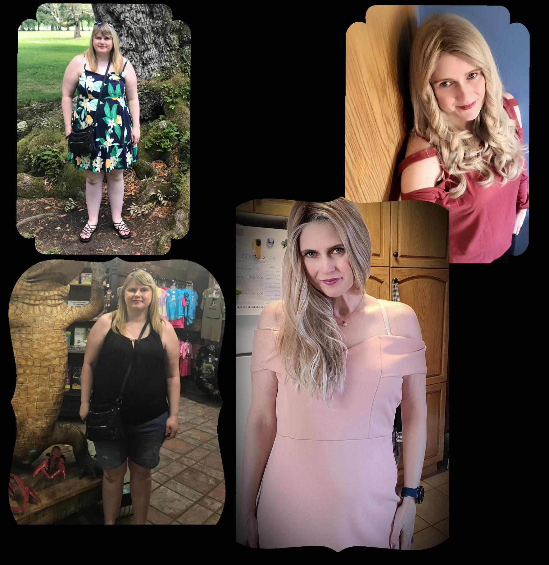 5 foot 7 Female 84 lbs Fat Loss Before and After 238 lbs to 154 lbs
