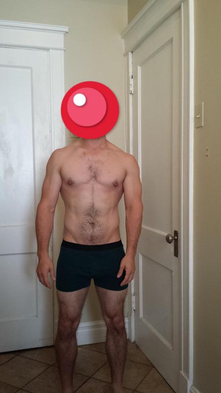 4 Photos of a 166 lbs 5 foot 7 Male Weight Snapshot