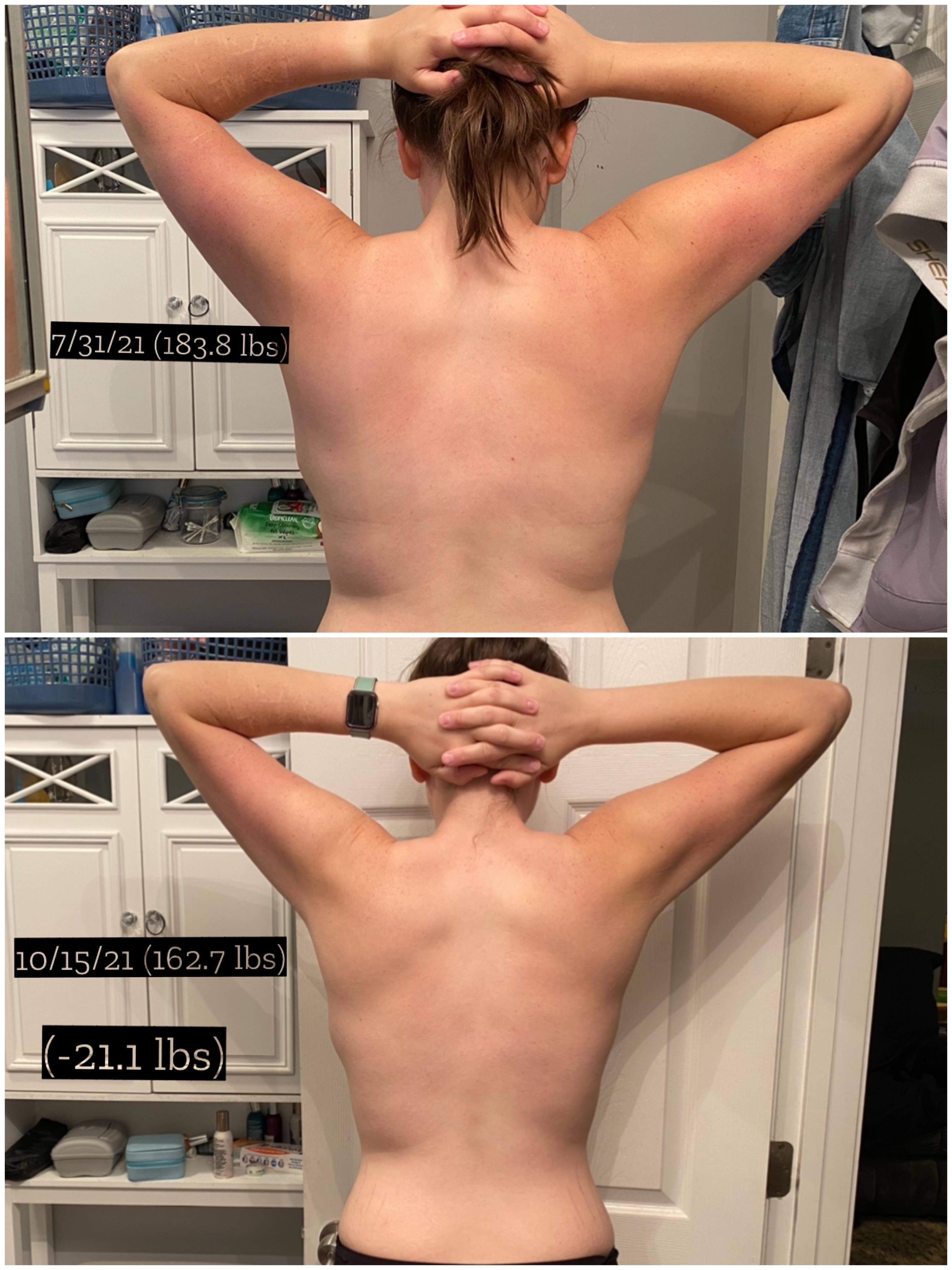 5'9 Female 21 lbs Weight Loss 183 lbs to 162 lbs