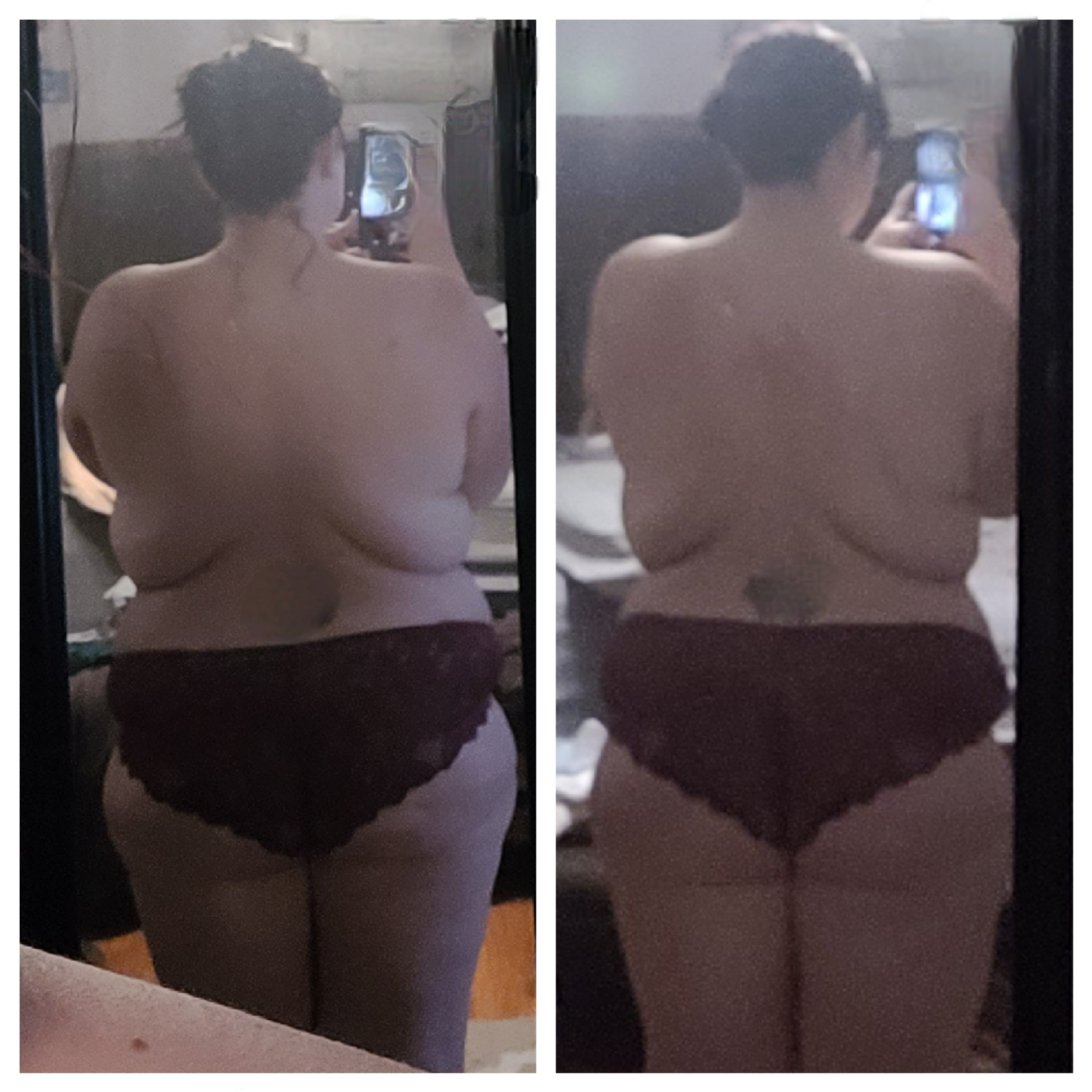 Progress Pics of 40 lbs Weight Loss 5 foot 4 Female 275 lbs to 235 lbs